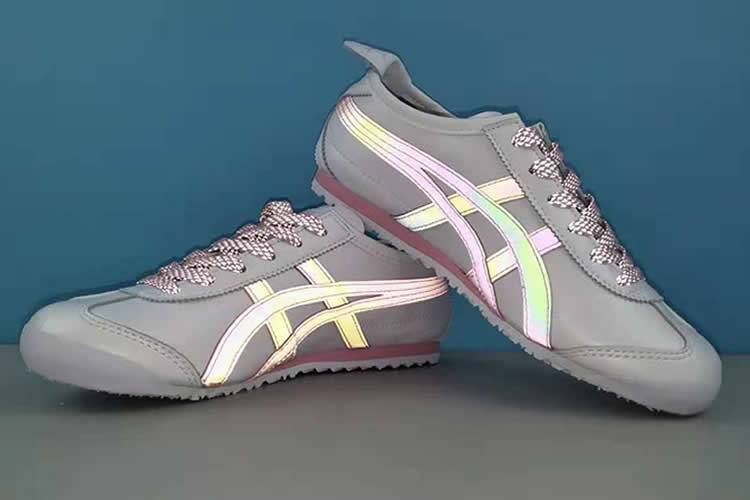 MEXICO 66 3M Reflective Lace (White/ Pink/ Purple) Womens Shoes