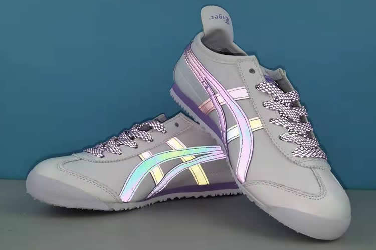 MEXICO 66 3M Reflective Lace (White/ Purple/ Pink) Womens Shoes