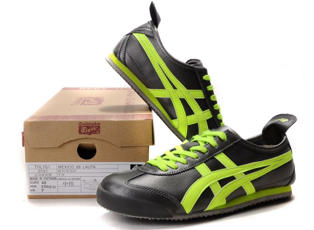 Men's Onitsuka Tiger Mexico 66 LAUTA Shoes (Black/ Fir/ Green)