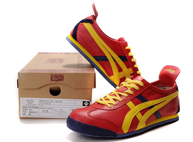 Men's Onitsuka Tiger Mexico 66 LAUTA Shoes (Red/ Yellow/ Purple)
