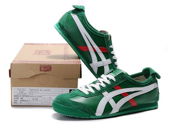 Men's Onitsuka Tiger Mexico 66 LAUTA Shoes (Green/ White/ Red)