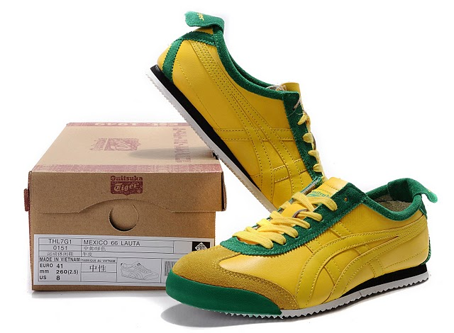 Men's Onitsuka Tiger Mexico 66 LAUTA Shoes (Yellow/ Green)