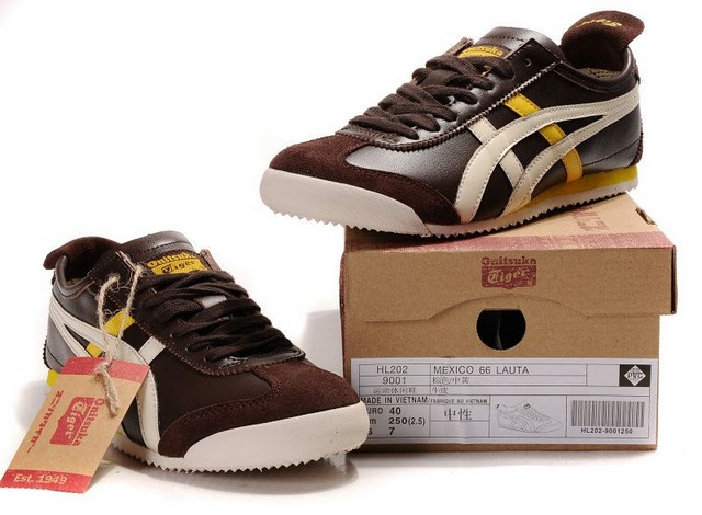 Men's Onitsuka Tiger Mexico 66 LAUTA Shoes (Brown/ Beige/ Yellow)