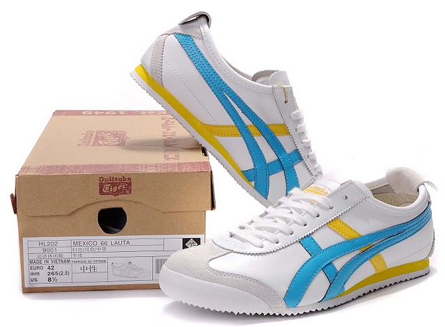 Men's Onitsuka Tiger Mexico 66 LAUTA Shoes (White/ Moonlight/ Blue)