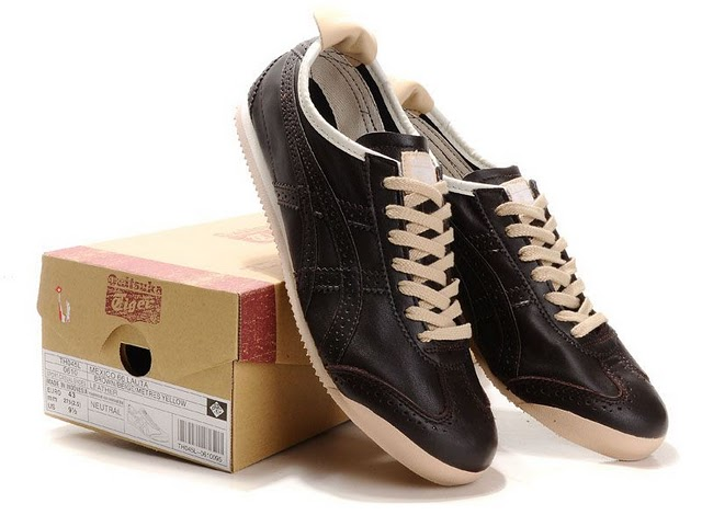 Mens Onitsuka Tiger Mexico 66 LAUTA New Shoes (Brown/ Beige)