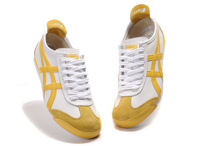 Men's Onitsuka Tiger Mexico 66 Sport Shoes (White/ Yellow)