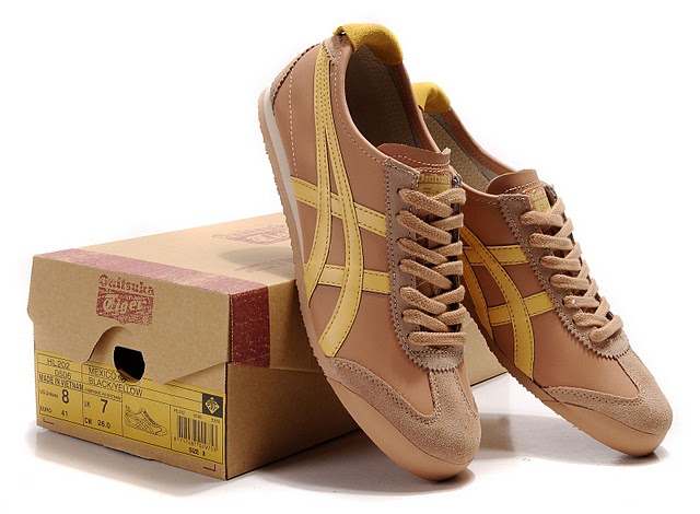 Men's Onitsuka Tiger Mexico 66 Sport Shoes (Dark Pink/ Yellow)