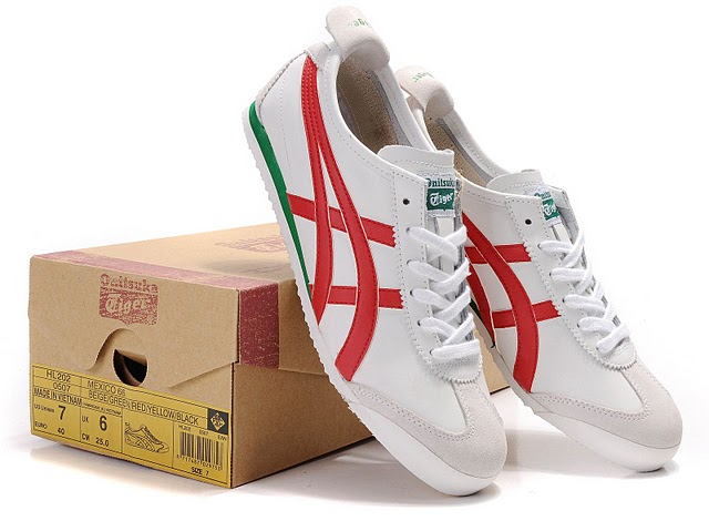Onitsuka Tiger White Red Green
