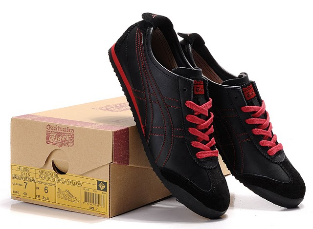 onitsuka tiger black red