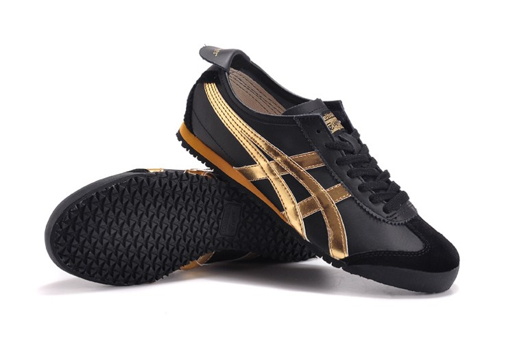 (Black/ Gold) Onitsuka Tiger Mexico 66 Sport Shoes