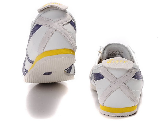 Men's ASICS Onitsuka Tiger Mexico 66 Sport Shoes (White/ Purple/ Yellow) - Click Image to Close