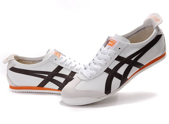 Men's ASICS Onitsuka Tiger Mexico 66 Sport Shoes (White/ Brown/ Orange)