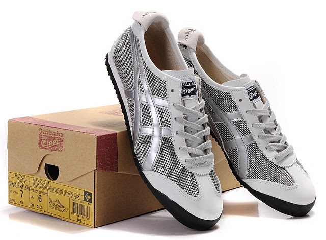 Men's ASICS Onitsuka Tiger Mexico 66 Sport Shoes (Silver)