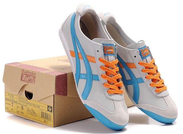 Onitsuka Tiger Mexico 66 Shoes (Light Grey/ Moonlight/ Orange)
