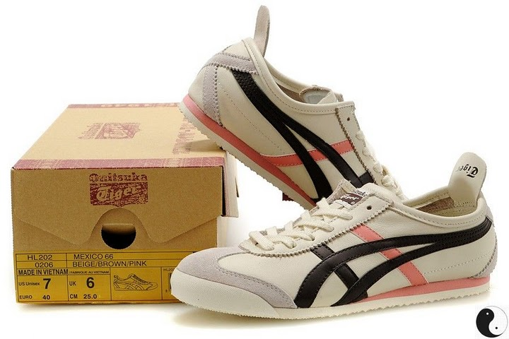 7bfb26e5b5 Beige  Brown  Pink) Onitsuka Tiger Mexico 66 Shoes  HL202-0206 ...