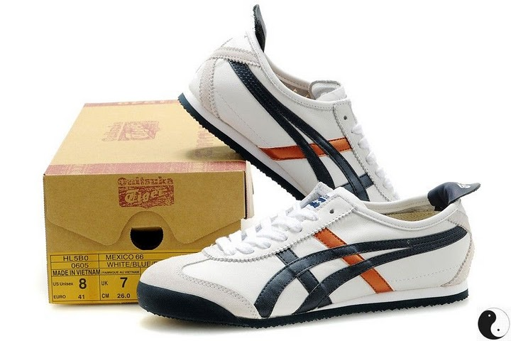 Onitsuka Tiger (White/ Blue/ Gold) Mexico 66 Shoes