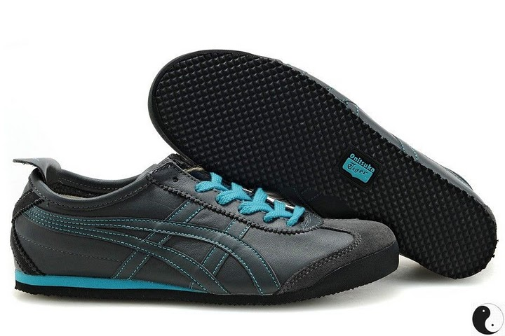 Men's ASICS Onitsuka Tiger Mexico 66 Sport Shoes (Grey/ Briliany Blue)