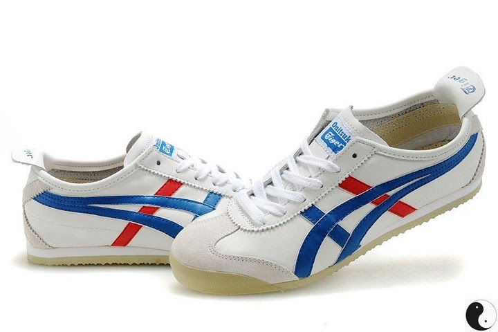 men 39 s women 39 s onitsuka tiger mexico 66 sport shoes white blue red men 39 s women 39 s asics. Black Bedroom Furniture Sets. Home Design Ideas