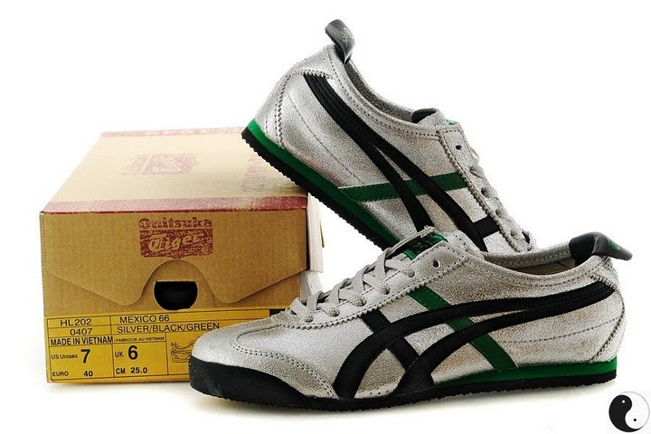 (Silver/ Black/ Green) Onitsuka Tiger Mexico 66 Shoes
