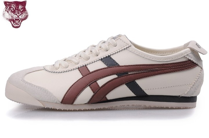 Men's Onitsuka Tiger Mexico 66 Shoes (Beige/ Brown/ Black)