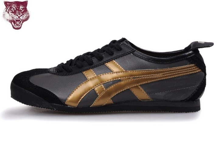 Men's Onitsuka Tiger Mexico 66 Shoes (Black/ Gold)