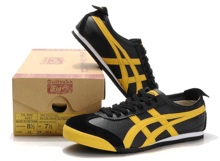 asics tiger yellow black