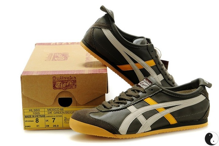 Men's Onitsuka Tiger Mexico 66 (Dark Blue/ White/ Yellow) Shoes