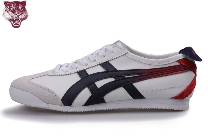 Men's Onitsuka Tiger Mexico 66 Shoes (Beige/ Black/ Red)