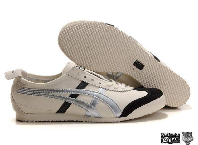 Men's Onitsuka Tiger Mexico 66 Shoes (White/ Silver/ Black)