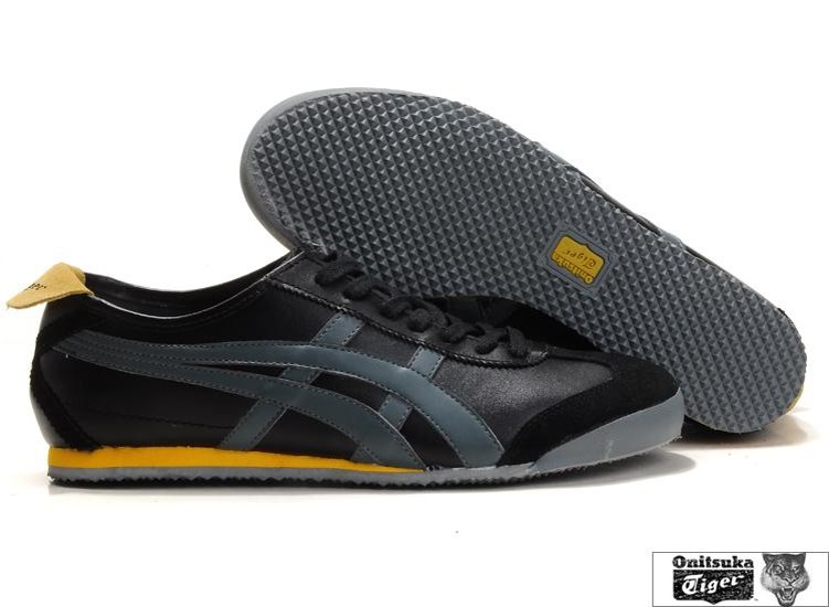 Mens Mexico 66 (Black/ Grey/ Yellow) Shoes