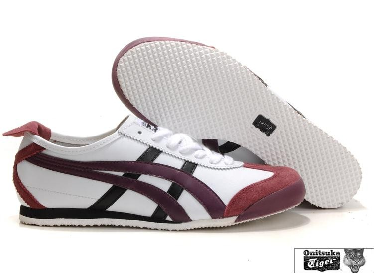 Men's Onitsuka Tiger Mexico 66 Shoes (White/ Red/ Black) - Click Image to Close