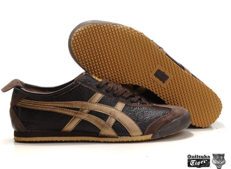 Buy 226454 Asics Onitsuka Tiger Mexico 66 Men Black Gold Shoes