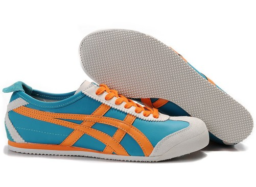Mens Blue Orange Onitsuka Tiger Mexico 66 Shoes