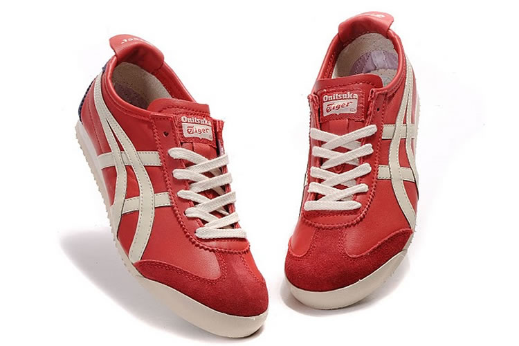 Red  Beige  Navy) Onitsuka Tiger Mexico 66 Shoes  HL202-0708 ... c3965055cb69