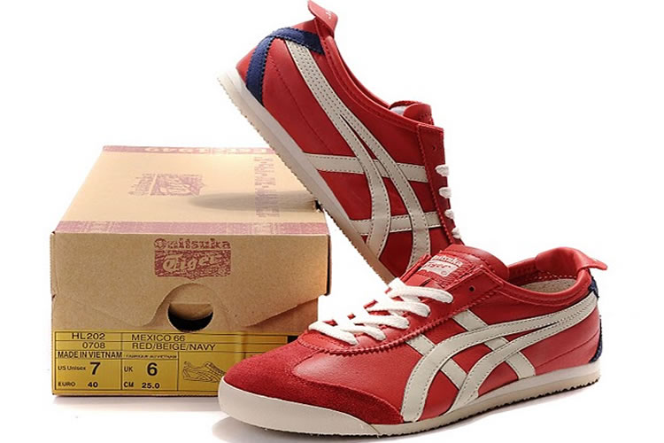 (Red/ Beige/ Navy) Onitsuka Tiger Mexico 66 Shoes