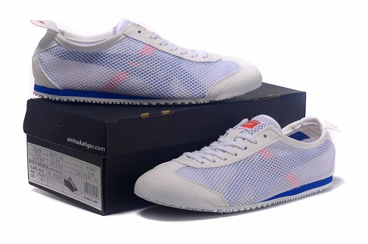 Onitsuka Tiger Mexico 66 D508N White Blue Shoes