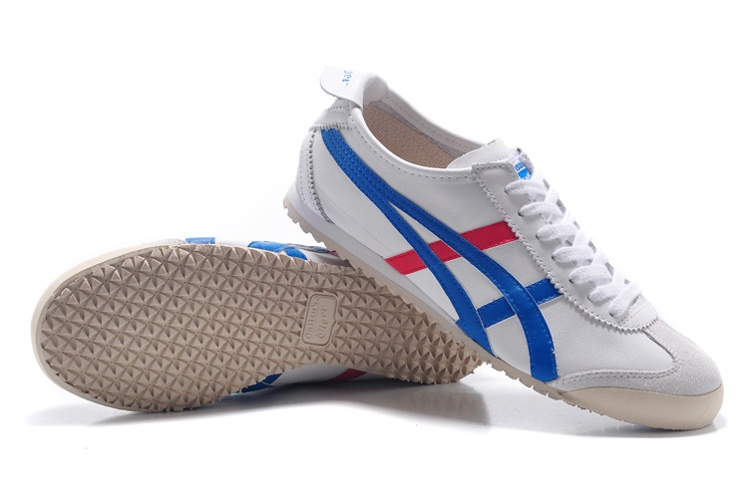 (White/ Blue/ Red) Onitsuka Tiger Mexico 66 DL408-0146 New Shoes