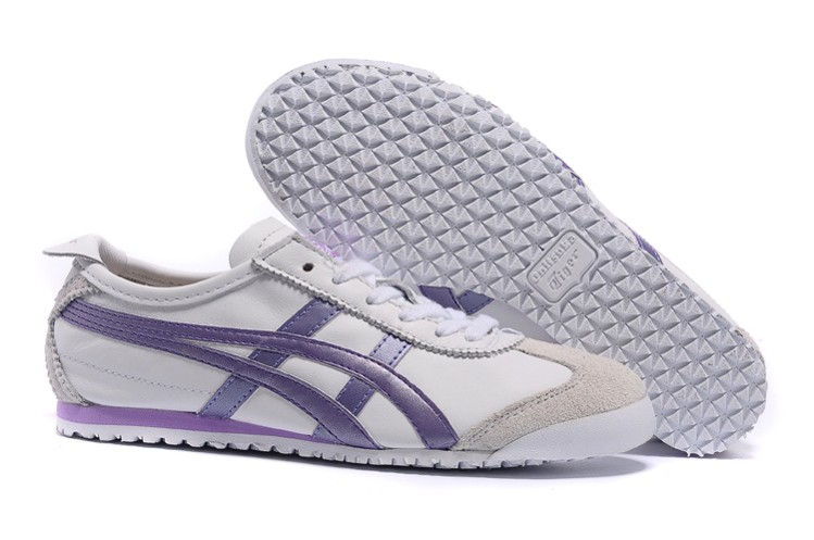 (White/ Purple) Onitsuka Tiger Mexico 66 Women Shoes