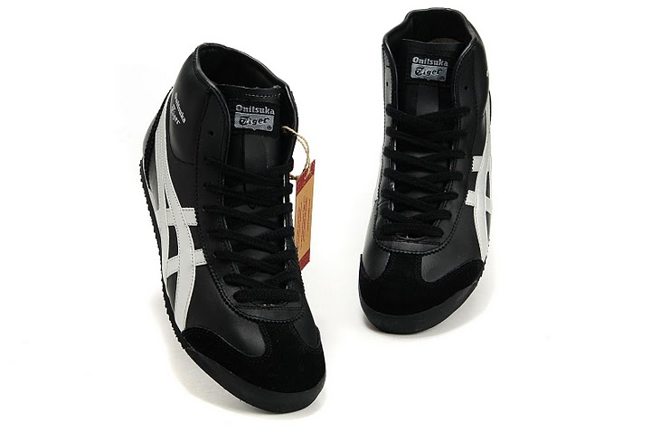 onitsuka tiger mexico mid runner black