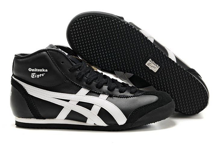 Women's Onitsuka Tiger Mexico Mid Runner (Black/ White)