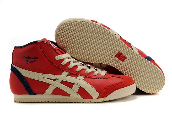 onitsuka tiger mexico mid runner red/beige/navy