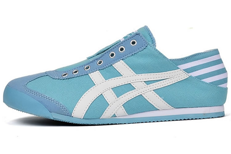 (Light Blue/ White) Onitsuka Tiger Mexico 66 Slip On Women Shoes