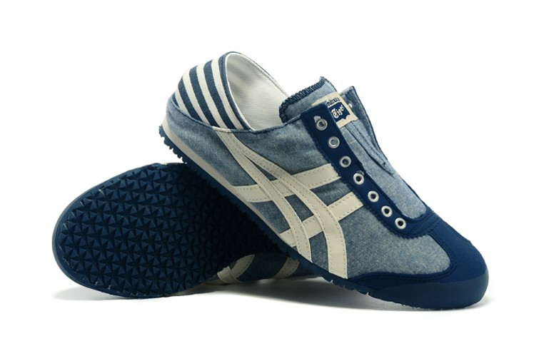 (Blue/ Beige) Onitsuka Tiger Mexico 66 Slip On Shoes