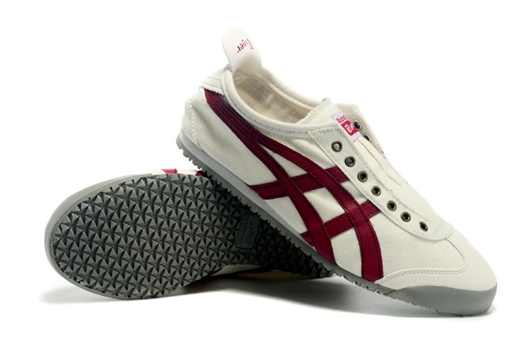 (White/ Claret Red) Onitsuka Tiger Mexico 66 Paraty Shoes