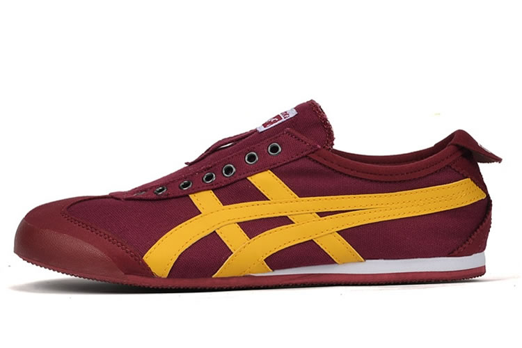 (Claret-Red/ Yellow) Onitsuka Tiger Mexico 66 Paraty Shoes