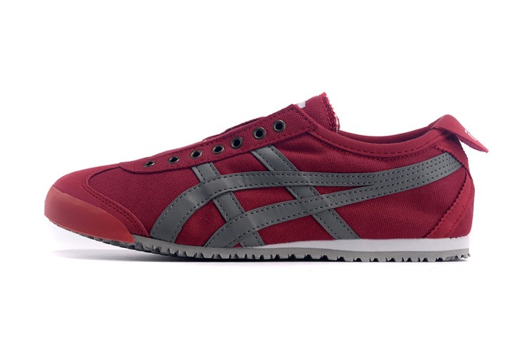 (Red/ Grey) Onitsuka Tiger Mexico 66 Paraty Shoes - Click Image to Close