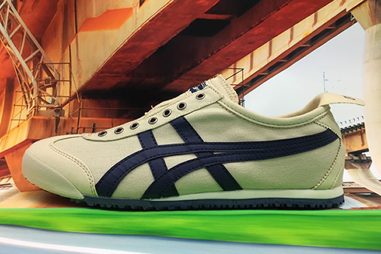 (Beige/ DK Blue) Onitsuka Tiger Mexico 66 Paraty Shoes
