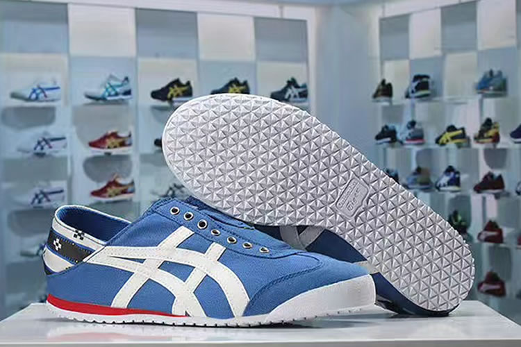 (Blue/ White/ Red) Onitsuka Tiger Mexico 66 Slip On New Shoes