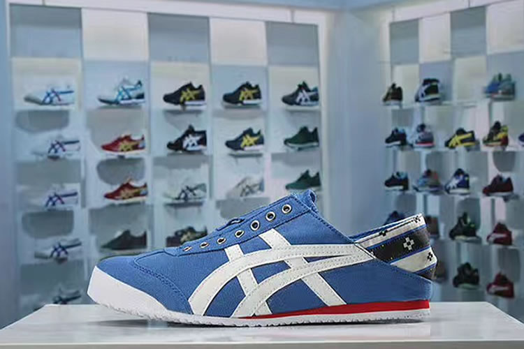 (Blue/ White/ Red) Onitsuka Tiger Slip On Shoes