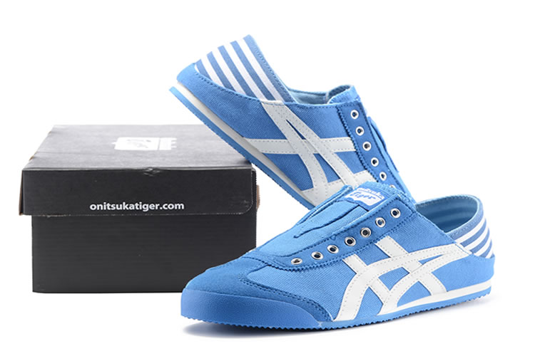 (Blue/ White) Onitsuka Tiger Mexico 66 Slip On Shoes